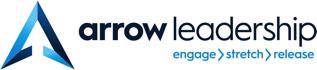 Logo of Arrow Leadership. Engage, stratch, release.